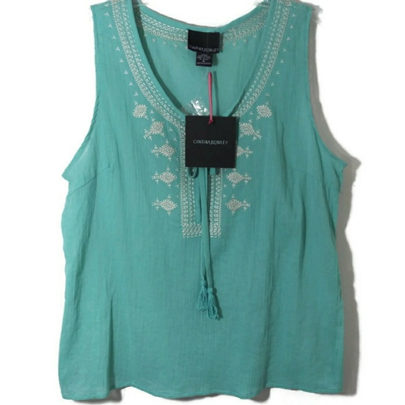 Cynthia Rowley Tops - Cynthia Rowley NWT sleeveless XL